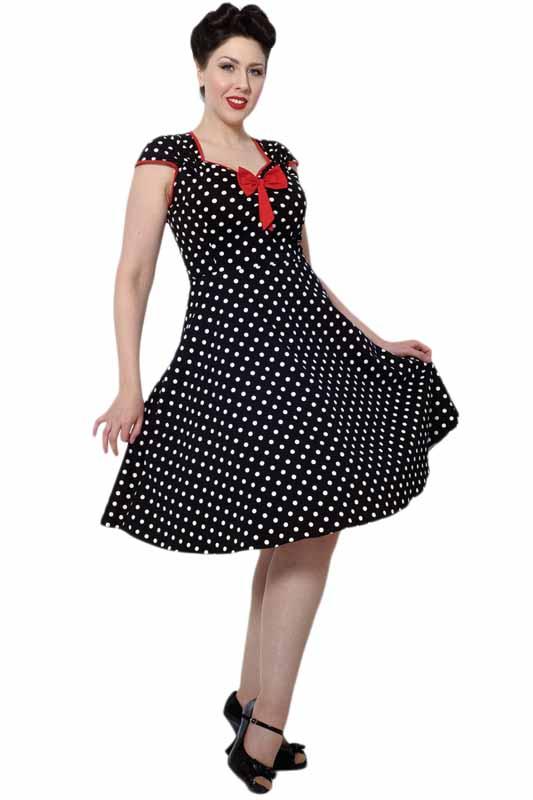 Lady Vintage Isabella Dress Black Polka Dot Last One Wild Brooches