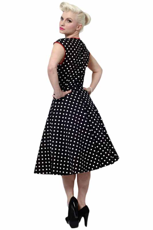 Cheap Pin Up Clothing Extraordinary Lady Vintage Isabella Dress Black Polka Dot LAST ONE Wild Brooches