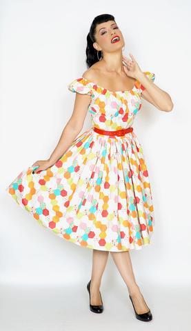 70e41fdad7 Bernie Dexter Jodi Dress in Technicolour Honeycomb - Wild Brooches