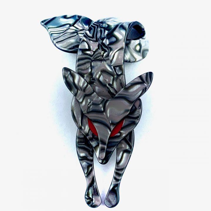 Lea Stein Renard Fox Steel Swirls